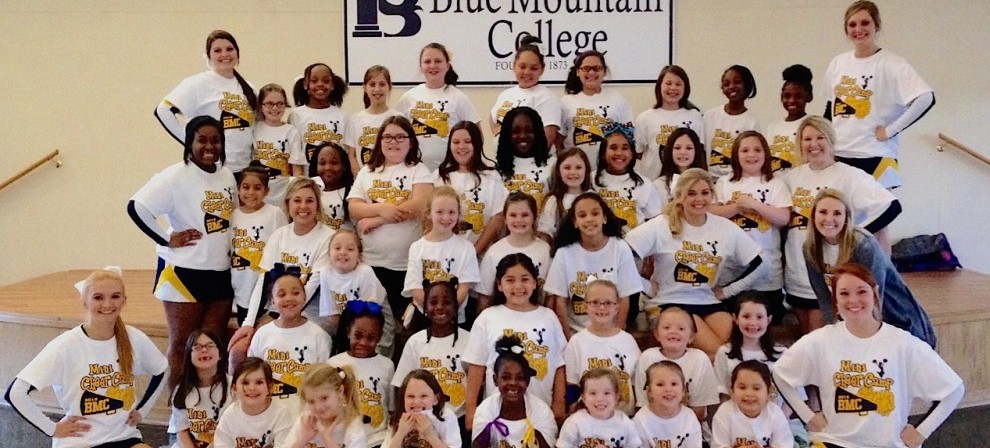 Local youngsters participated in cheerleading camp last week at BMC.