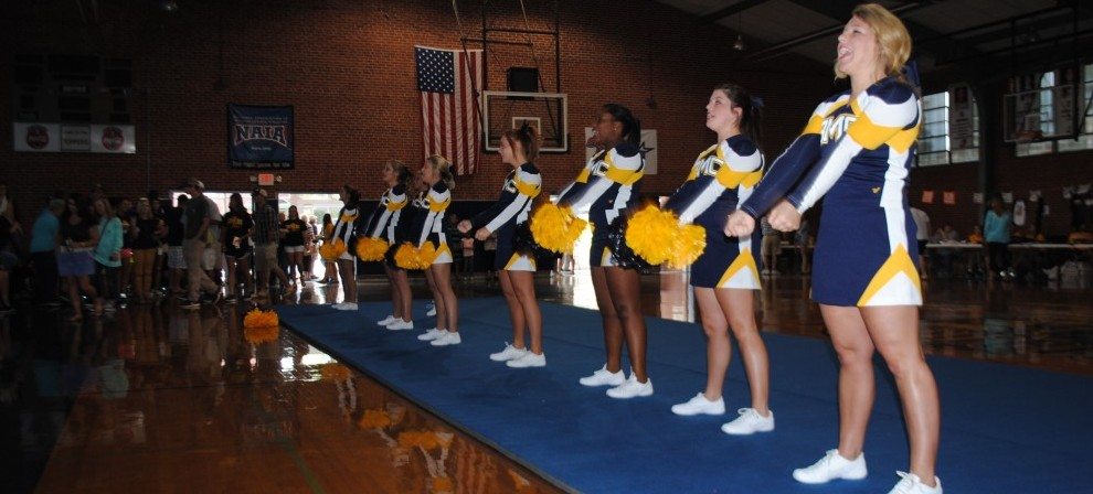Topper Cheerleaders perform for the crowd at