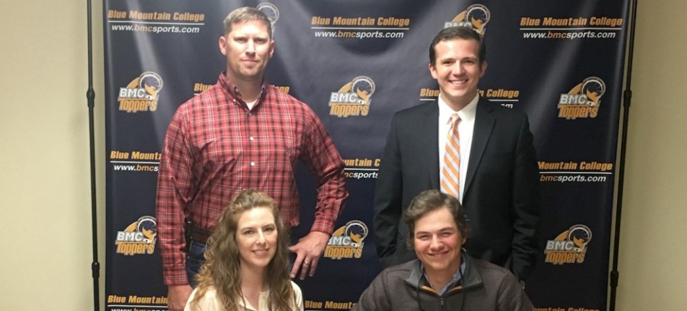 Alden Keel (seated, right) signed with BMC Archery