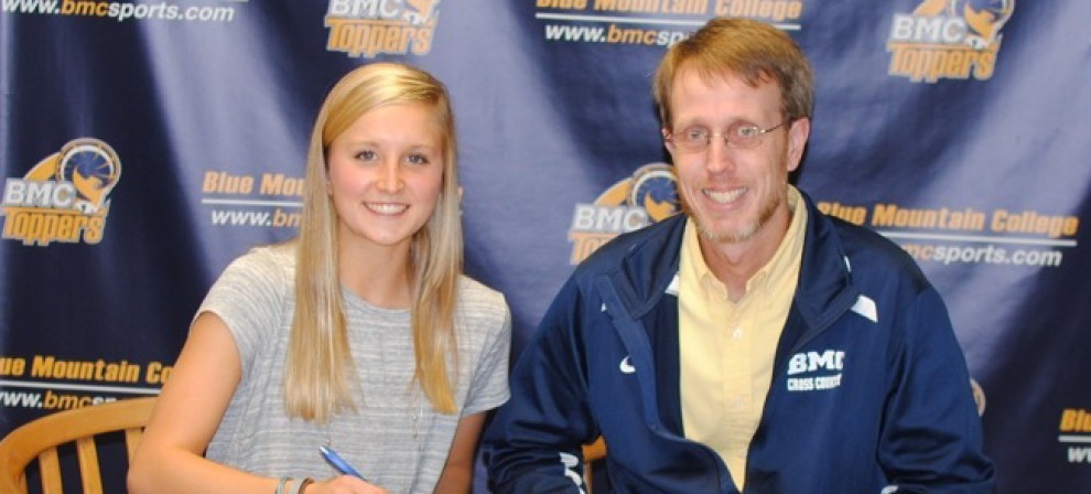 Pictured are Ainsley Young and coach Phillip Laney