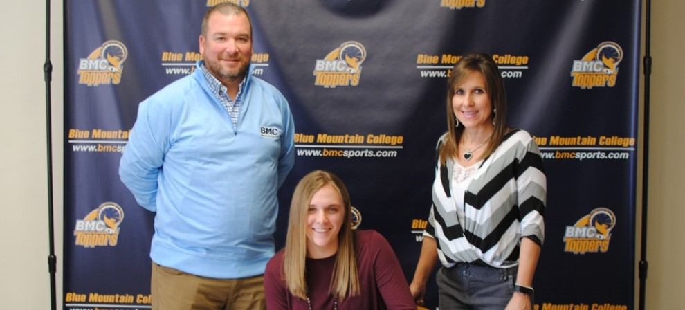 Morgan Whitaker (seated) signed with BMC Golf