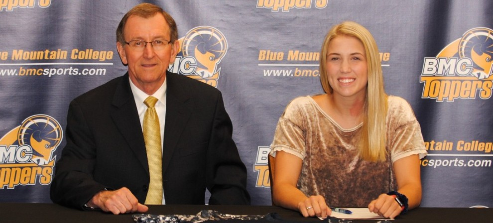 BMC head women's coach Lavon Driskell (left) is pictured with Sloane Rhodes