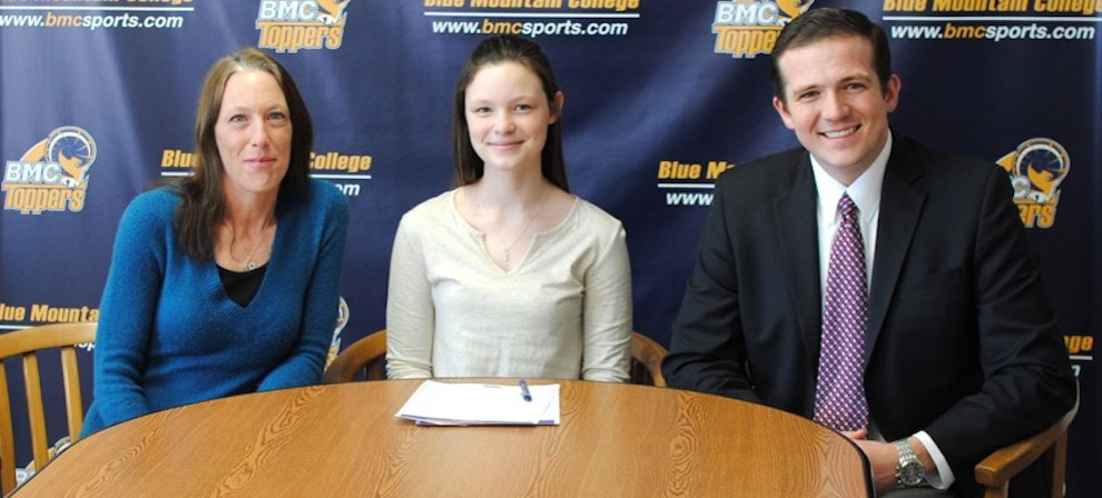 Pictured are Shelly Sanders, Sierra Sanders and Coach Clint Gannon