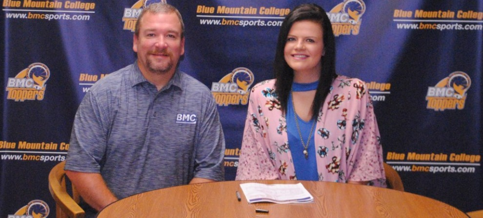 Pictured is BMC head coach Kevin Barefield and Lauren Dunlap